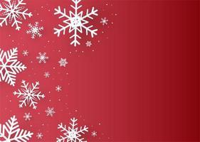 Natal e feliz ano novo fundo vermelho com floco de neve
