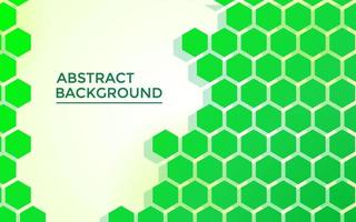 green hexagon abstract background, with futuristic style