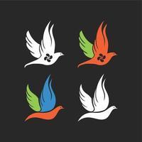 abstract bird set vector