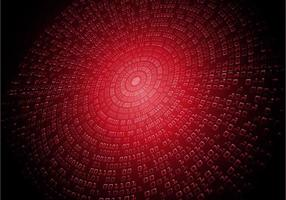 red binary cyber code