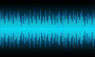 Ondas sonoras oscilando luz azul