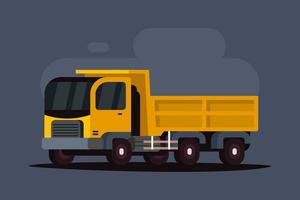 Truck in vlakke stijl