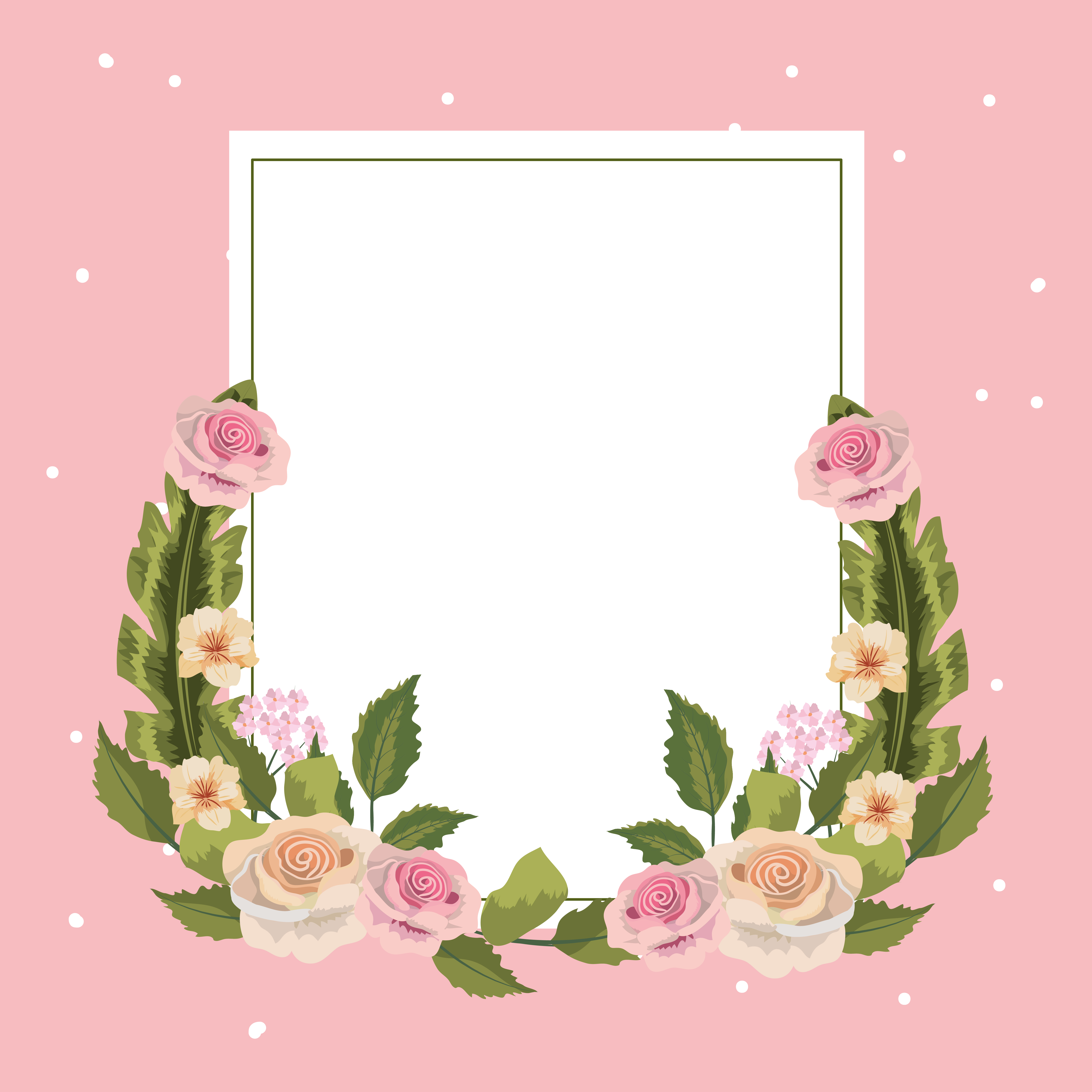 Vintage Floral Square Frame Download Free Vectors Clipart