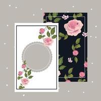 Quadro floral vintage vetor