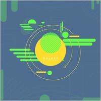 Neon abstrakt teknik och rymdutforskare bakgrund
