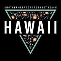 insignia de triángulo de paraíso de verano de hawaii vector