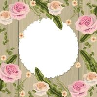 Blommig ram för vintage