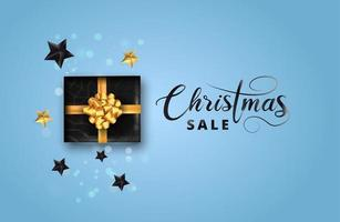 Merry christmas sale poster vector