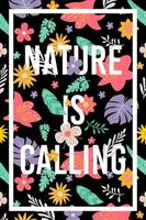 nature is calling banner poster vector