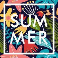 summer floral poster banner pattern vector