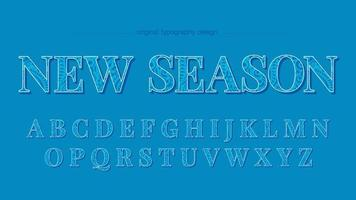 Blue Floral Pattern Uppercase Typography