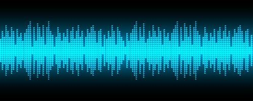 Digital pixel sound waves  vector
