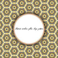 Vintage Pattern Hexagonal Line