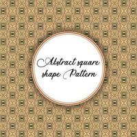 Vintage Square Shape Pattern
