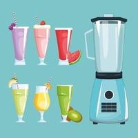 smoothies and mixer vector