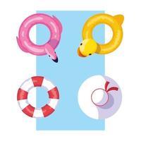 anka-flamingo och säker float-design