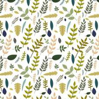 Mixed Leaves Pattern  vector