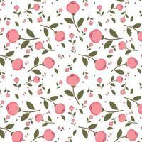 Pink floral pattern design