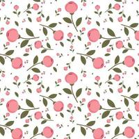 Rosa blommönster design
