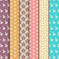Set of floral pattern collection