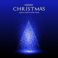 Glowing sparkles Christmas tree design vector