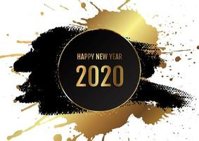 Grunge Happy New Year background  vector