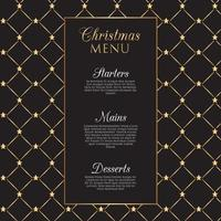 Christmas menu design with gold stars