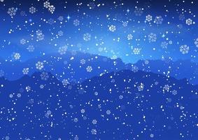 Jul snöig landskap