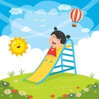 Kid glider i parken