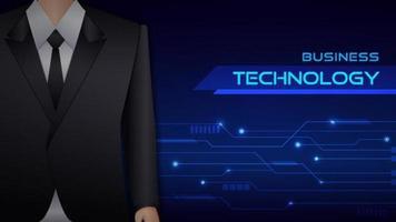 Banner di tecnologia uomo d'affari.