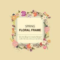 Vårens blommig ram
