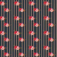 Randig blommönster design