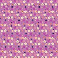 purple and yellow floral background design