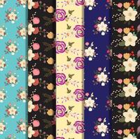 Set of floral background collection