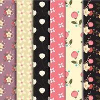 Set of floral pattern design