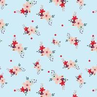 floral light blue background design