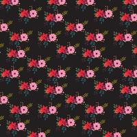 Mörk blommig bakgrundsdesign
