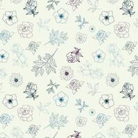 floral outline background design