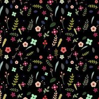 colorful floral pattern on black background