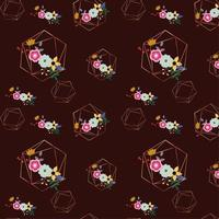 floral geometric background design