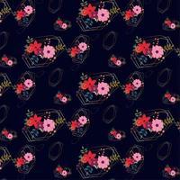 blommönster design