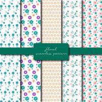 Set of pastel floral patterns