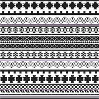 Black and white tribal shapes patter