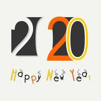 Feliz año nuevo 2020 vector
