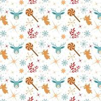 christmas wallpaper design with angels and lollipops