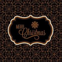 merry christmas card design with filigree pattern and space for text