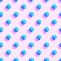 Geometric Pastel Overlapping Circles Pattern