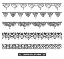 Seamless Mandala Border Set vector