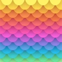 3D Rainbow Paper Fish Scale Vector Background