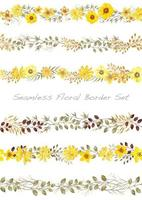 Yellow  floral border set